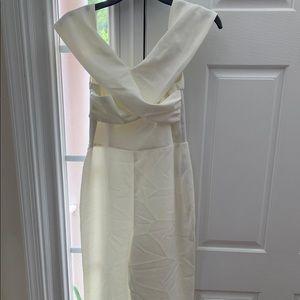 H&M off white jumpsuit